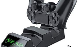 PS4 Controller Charger, PS4 Charging Station with Dual PS4 Charger, BEBONCOOL PS4 Controller Charger Station with 4 Micro USB, PS4 Charger Station for Sony Playstation4/PS4 Slim/PS4 Pro Controller