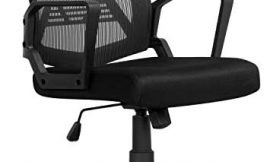 Yaheetech Computer Chair Ergonomic Office Chair Mid-Back Desk Chair w/Armrest and Swivel Casters – Black