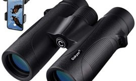 Binoculars, 12×42 Binoculars for Adults with Smartphone Adapter, HD Professional Binoculars for Bird Watching Travel Stargazing Hunting Concerts Sports – Large View Eyepiece and BAK4 Prism FMC Lens