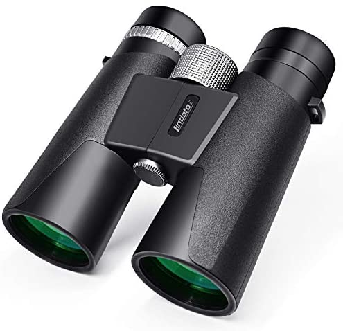 12×42 Binoculars for Adults – HD Low Light Night Vision – Compact Lightweight (1.05lb) – Powerful BAK4 Prism FMC Lens – Waterproof Binoculars for Bird Watching, Hunting, Sports -Phone Adapter Included