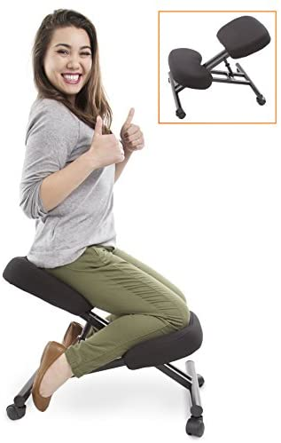 ProErgo Ergonomic Kneeling Chair -Adjustable Height – Office Seating with an Edge! Perfect for Relieving Back and Neck Pain & Improving Posture – Great Fit for Home, Office, or Classroom!