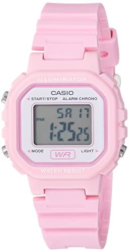 Casio Women's Classic Quartz Watch with Resin Strap, Pink, 9 (Model: LA20WH-4A1)