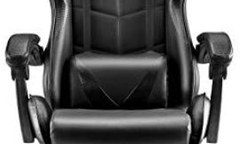 Soontrans Ergonomic Office Chair,Racing Style Gaming Chair,Video Gaming Chair with Retractable Footrest and Adjustable Headrest Lumbar Support(Classic Black)