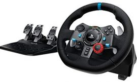 Logitech Dual-Motor Feedback Driving Force G29 Gaming Racing Wheel with Responsive Pedals for PlayStation 4 and PlayStation 3 – Black