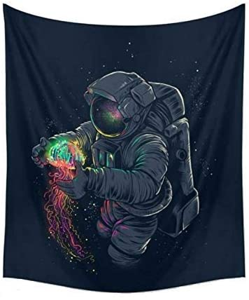 CAMMITEVER Astronaut Wall Hanging Tapestry Outer Space Wall Art Home Decorations for Living Room Bedroom Dorm Decor in 51×60 Inches (51 W by 60″ L)