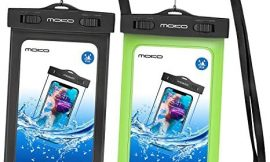 MoKo Waterproof Phone Pouch [2 Pack], Underwater Cellphone Case Dry Bag with Lanyard Armband Compatible with iPhone 11/11 Pro Max, X/Xs/Xr/Xs Max, 8/7/6s Plus, Galaxy S20/S10,S9 Plus,S10e,Note 10