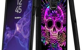 Samsung Galaxy S9 Plus case Full Body Case with Holder Ring Cover Protector Heavy Duty Protection case Shockproof case for Samsung Galaxy S9 Plus (Sugar Skull)