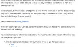 Amazon Sidewalk will be enabled by default on Echo devices