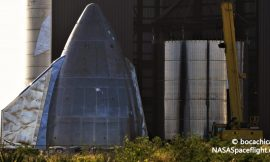 SpaceX backup Starship reaches full height after nosecone installation