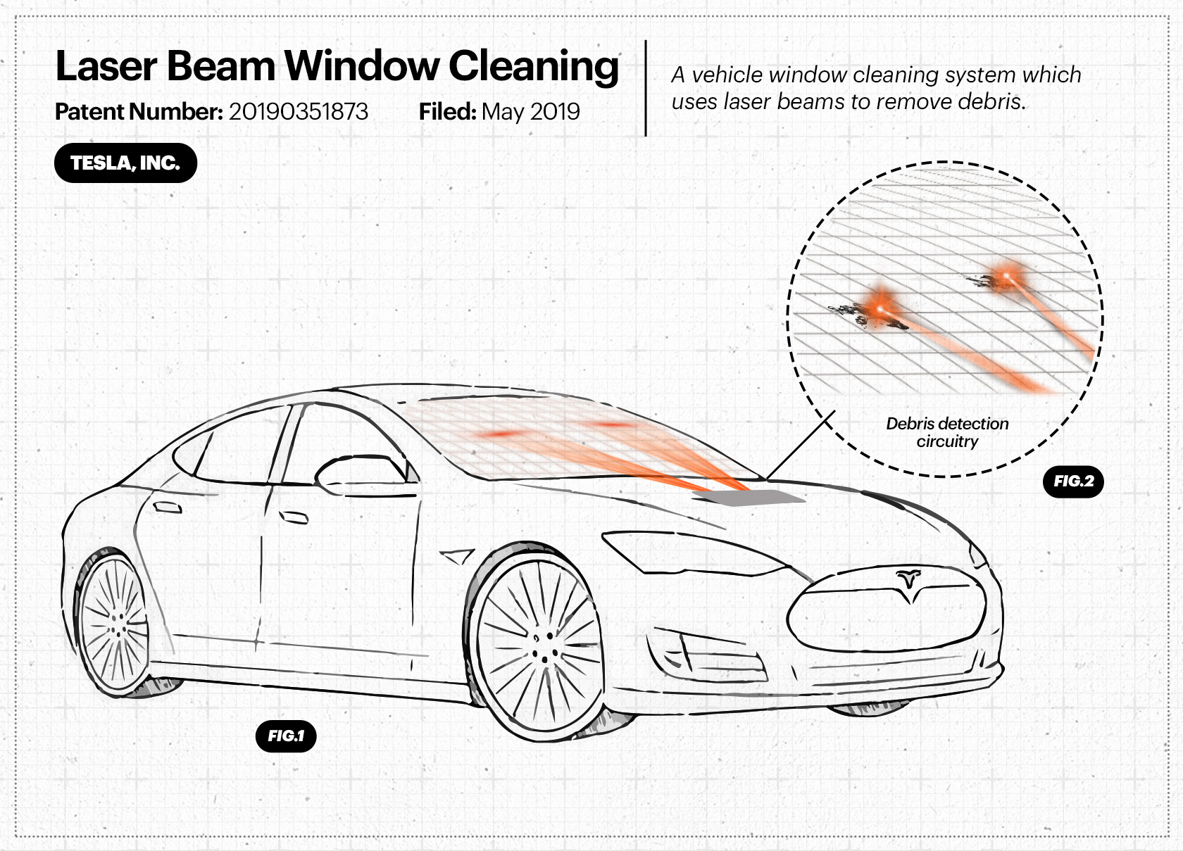 Read more about the article Will Future Teslas Have Lasers For Wipers, Among Other Patented Innovations?