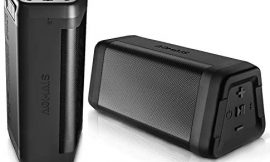 AOMAIS Real Sound Bluetooth Speakers 2-Pack True Wireless Stereo 20W Speakers Dual Pairing 24H Playtime IPX5 Waterproof Bluetooth 4.2 Wireless Speakers for Home, Travel Black
