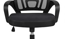 Yaheetech Office Chair Ergonomic Desk Chair Mid-Back Big Cheap Computer Chair Mesh Swivel Chair with Lumbar Support