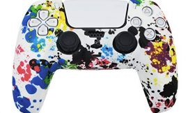 PS5 Silicone Gel Grip Controller Cover Skin (PS5 Paint Splash Skin) Compatible for Sony PlayStation 5, Compatible for PlayStation 5 Accessories, Wireless Controller Protector Covers, PS5 Skin