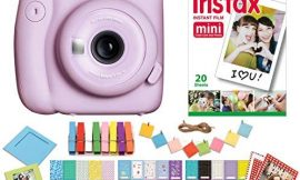 Fujifilm Instax Mini 11 Lilac Purple Instant Camera with Twin Pack Instant Film, Ritz Gear Frame Stickers and Ritz Gear Hanging Frames