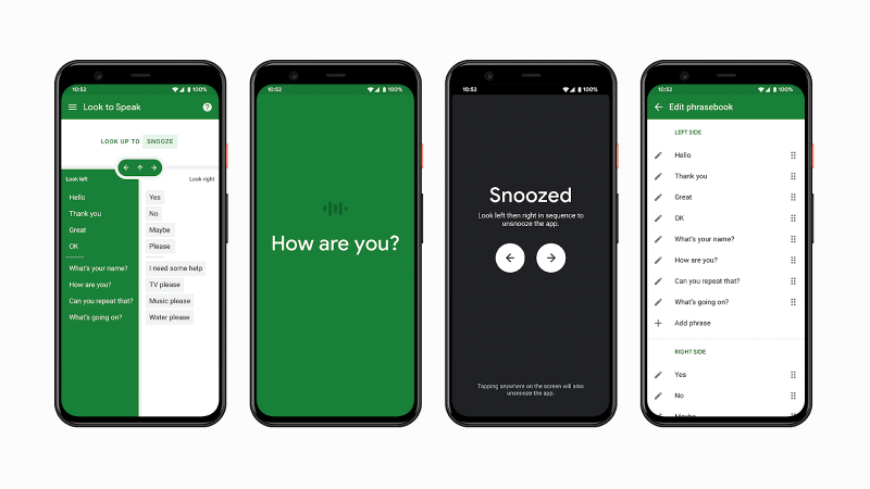 Google's Look to Speak taps gaze-tracking AI to help users with impairments communicate