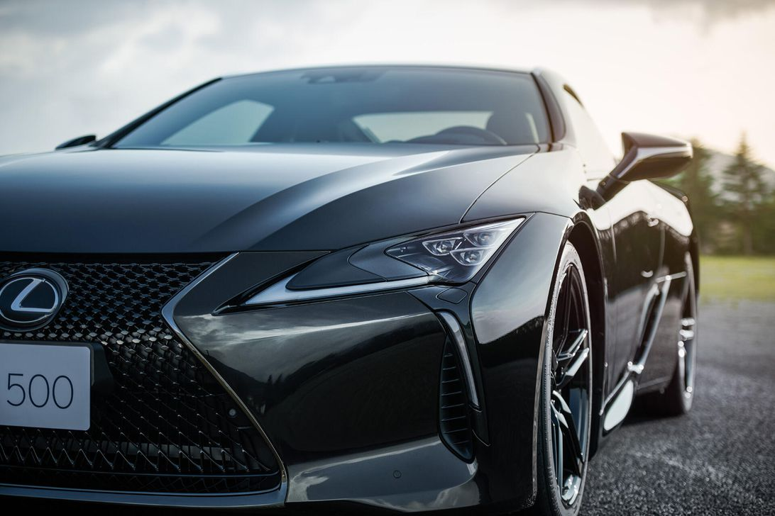 2021 Lexus LC 500 Inspiration Series is a black beauty with a handsome rear wing