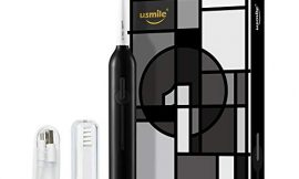 usmile P1 Sonic Electric Toothbrush Last for 6 Months on One Charge with Replacement Brush Heads, Sensitive Gum Care, 6 Cleaning Modes Automatic Timer Rechargeable Black (Black)