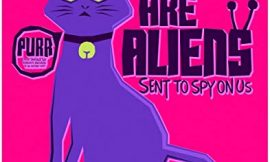 Cats Are Aliens Funny Feline Fine Art Print Decor – Humor Wall Art Poster – 11×14 Unframed Vintage Wall Art Photo Gift – Office, Apartment, Dorm Accessories Under $15