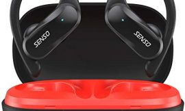 SENSO Wireless Earbud – Bluetooth True Wireless Earphones – TWS Best Sport Headphones for Workout Noise Cancelling Sweatproof Ear Buds with Mic 40 Hours Playtime for iPhone, Running, Gym