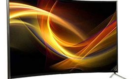 LYYAN 55-inch Curved Smart TV, High-Definition TV High-Resolution Flat-Screen TV Built-in HDMI USB VGA Ports-Refresh Rate 60 Hz