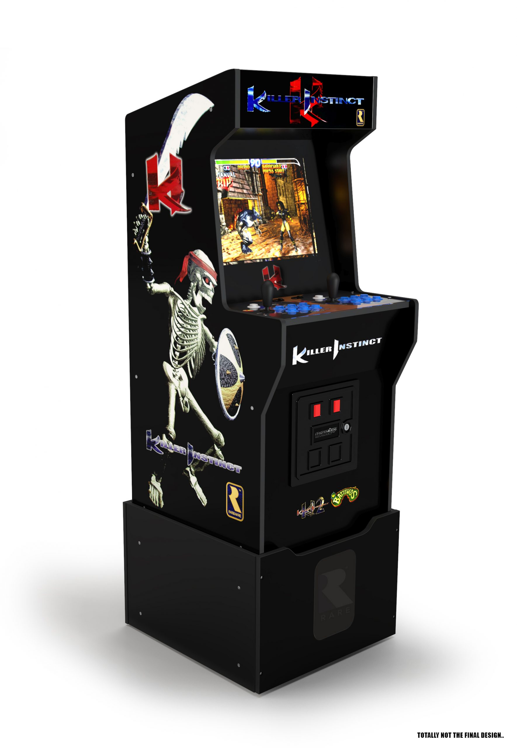 Arcade1Up reveals Killer Instinct, X-Men, and Dragon's Lair home cabinets