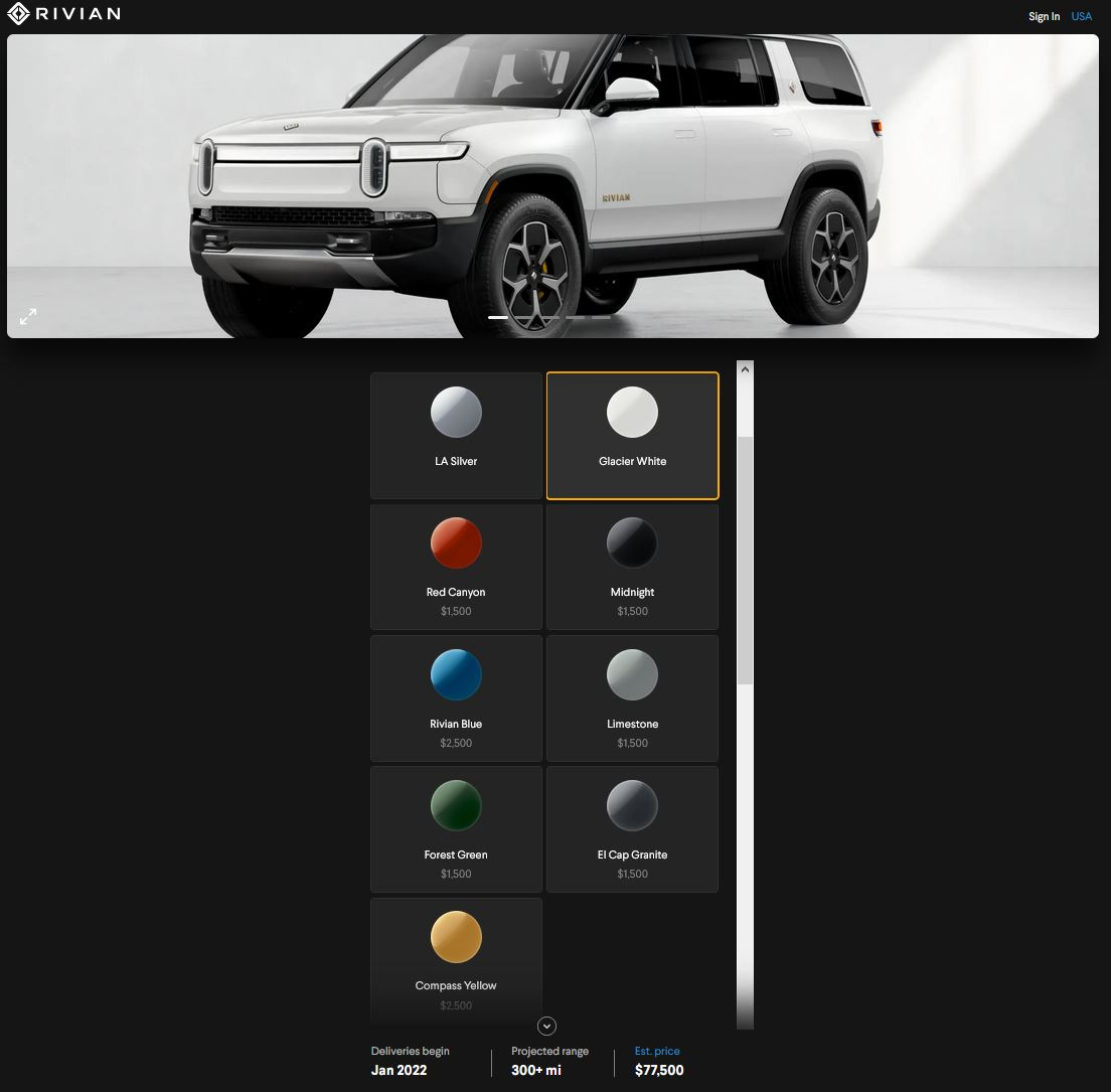Rivian hints at factory fitted wraps for customization