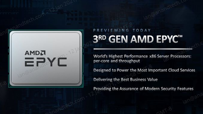 AMD Previews 3rd Gen EPYC 'Milan' Performance