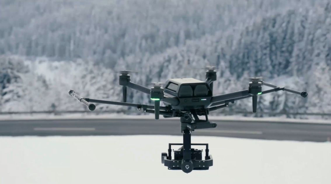 This is Sony's Airpeak drone