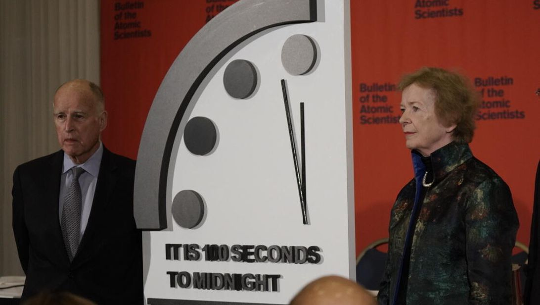 Today we find out if the Doomsday Clock ticks closer to midnight