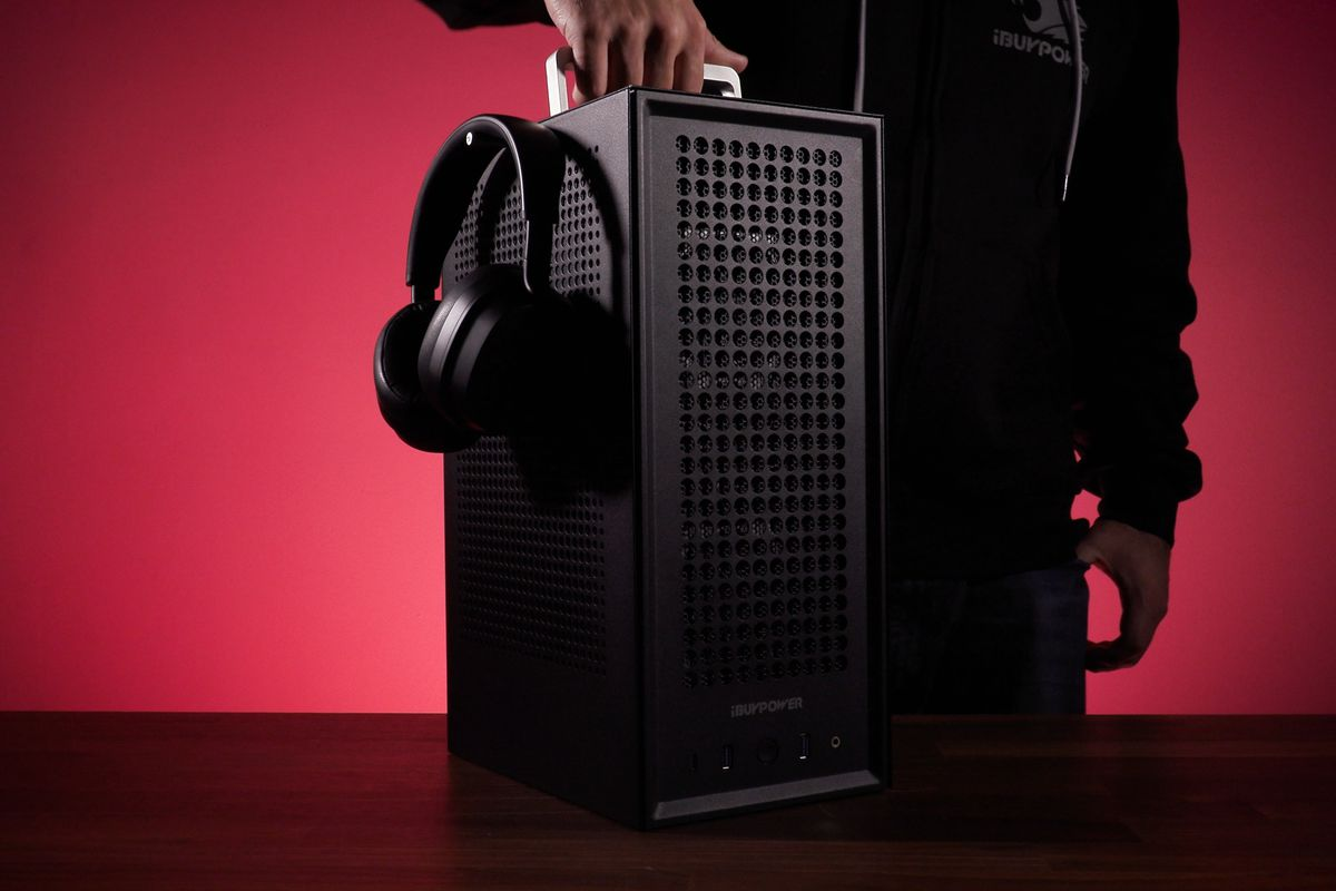 iBuyPower's Revolt 3 MK3 PC case packs in a handle and lots of ventilation
