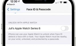 You can now use your Apple Watch to unlock your iPhone while wearing a mask