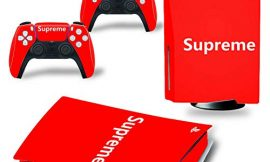 Playstation 5 Supreme Skin Vinyl Sticker Dustproof Anti-Scratch Decal Cover for PS5 Disc Version Console and Dualsense 5 Controllers – Supreme Edition
