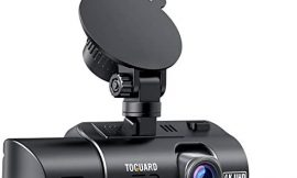TOGUARD Dual Dash Cam 4K Front and 1080P Inside Cabin GPS Dual Lens Car Dash Camera with 4 IR LEDs Night Vision Car Driving Recorder G-Sensor, WDR, Parking Monitor, Loop Recording, Support 256GB Max