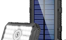 Solar Charger 26800mAh,GRDE Wireless Portable Solar Power Bank Panel Charger with 28 LEDs and 4 Outputs External Backup Battery Huge Capacity Phone Charger for Camping Outdoor for iOS Android