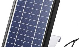 Sumind Solar Panel Charger for Feeder, 3.5W Panel Waterproof Solar Panel Battery Charger with Metal Mounting Bracket (6V)