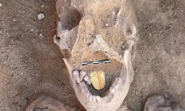Archaeologists in Egypt discover a mummy with a golden tongue