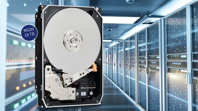 Toshiba Unveils World's First FC-MAMR HDD: 18 TB, Helium Filled