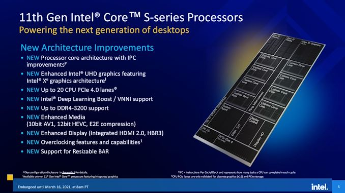 Intel Launches Rocket Lake 11th Gen Core i9, Core i7, and Core i5