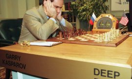 What was the first computer to win a chess match against a world champion (under regular time constraints)?