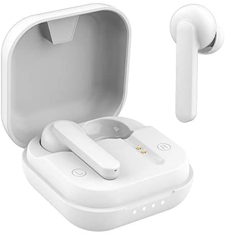 Wireless Earbuds, Willful Bluetooth Earbuds with Microphone, Stereo Sound, Clear Call, Touch Control, USB-C Charge, Bluetooth V5.0, Waterproof, Secure Fit, in-Ear Headphones Earphones (White)