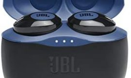 JBL Tune 125TWS True Wireless In-Ear Headphones – JBL Pure Bass Sound, 32H Battery, Bluetooth, Fast Pair, Comfortable, Wireless Calls, Music, Native Voice Assistant, Android and iOs Compatible (Blue)