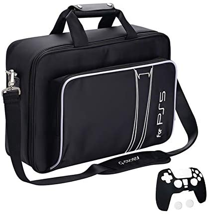 G-STORY Case Storage Bag for PS5, Console Carrying Case Compatible Playstation 5 and PS5 Digital Edition, Travel PS5 Bag for Playstation Controller, Included Silicone Cover Skin Protector