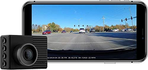 Garmin Dash Cam 46, Wide 140-Degree Field of View in 1080P HD, 2″ LCD Screen and Voice Control, Very Compact with Automatic Incident Detection and Recording (Renewed)