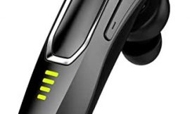 Bluetooth Headset V5.0, HD Voice Noise Cancelling, 30H Talking Time and 15 Days Long Standby, Built-in 220mAh Battery, Handsfree Wireless Bluetooth Earpiece for Cell Phone
