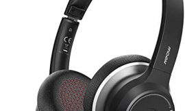 Mpow HC5 V5.0 Bluetooth Headset with Dual Mic, 22Hrs Talk Time with CVC8.0 Noise Canceling Microphone, Breathable Earmuff for Comfort, Handsfree Wireless Cell Phone Headphone with Mute for Business