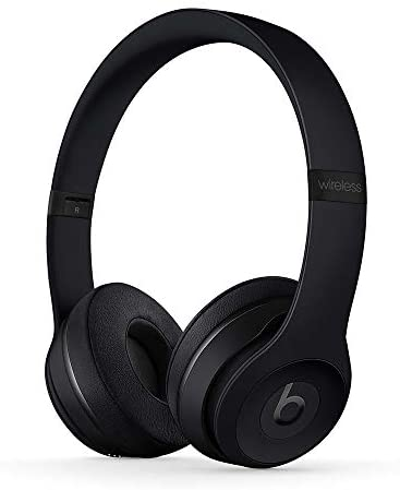 Beats Solo3 Wireless On-Ear Headphones – Apple W1 Headphone Chip, Class 1 Bluetooth, 40 Hours of Listening Time, Built-in Microphone – Black (Latest Model)
