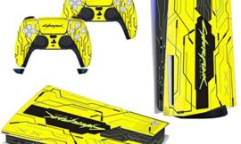 Skin for PS5 Disk Edition Playstation 5 Console and Controllers Skin Vinyl Sticker Decal Cover Stickers for PS5 Playstation 5 (Cyberpunk 2077 one)