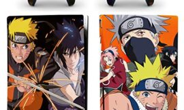 Decal Moments PS5 Standard Disc Console Controllers Full Body Vinyl Skin Sticker Decals for Playstation 5 Console and Controllers Anime Uzumaki Sasuke