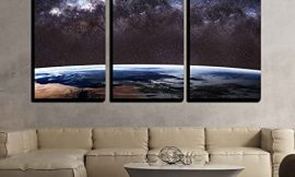 wall26 – Earth from Outer Space – Canvas Art Wall Art – 24″x36″x3 Panels