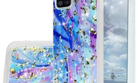 TJS Phone Case Compatible with Samsung Galaxy A51 5G (Not Fit Galaxy A51 4G, Galaxy A50), [Tempered Glass Screen Protector] Shiny Flake Glitter Back Skin Full Body Soft TPU Rubber Bumper (Colorful)